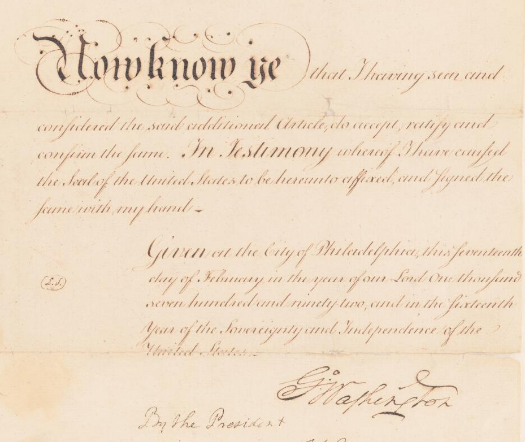Now Know Ye featuring George Washington's signature
